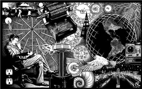 наука, Никола Тесла, Эфир