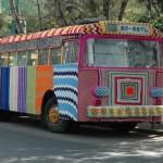 Вязаный автобус