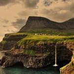 Деревушка на Фарерских островах, Атлантика