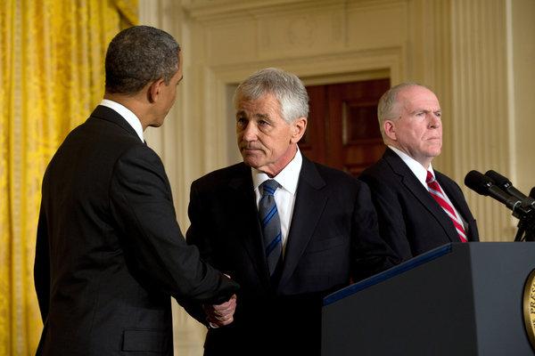 Чак Хейгел и Обама