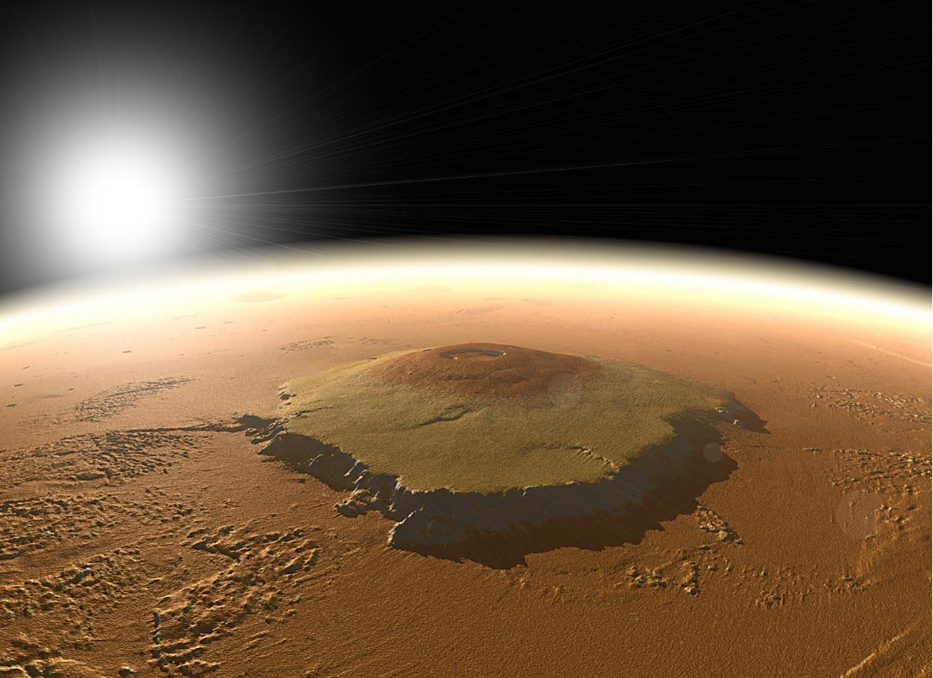 Марс. Олимп - самая высокая гора в солнечной системе