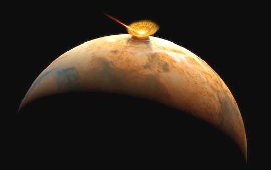 Комета C/2013 A1, угроза Марсу