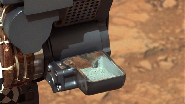 Curiosity - проба грунта Марса