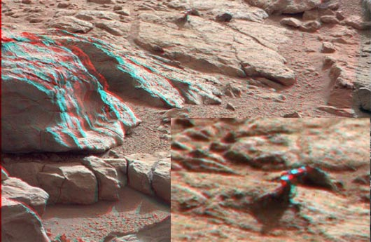 Фотография странного объекта на Марсе в 3D