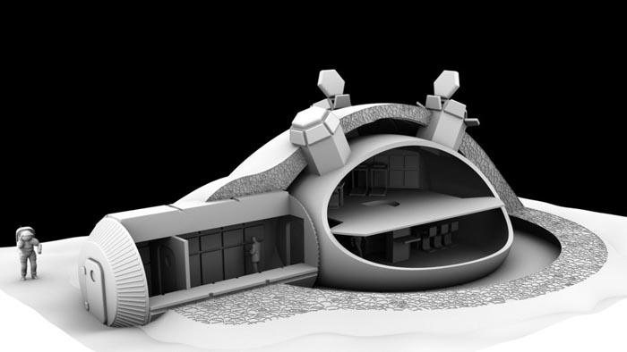 D-Shape - Печать лунной базы на 3D принтере