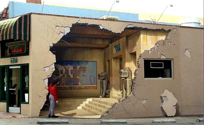 Джон Пью, 3D иллюзии на стенах зданий