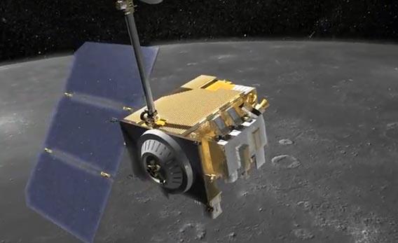 LRO, снимки теневой Луны
