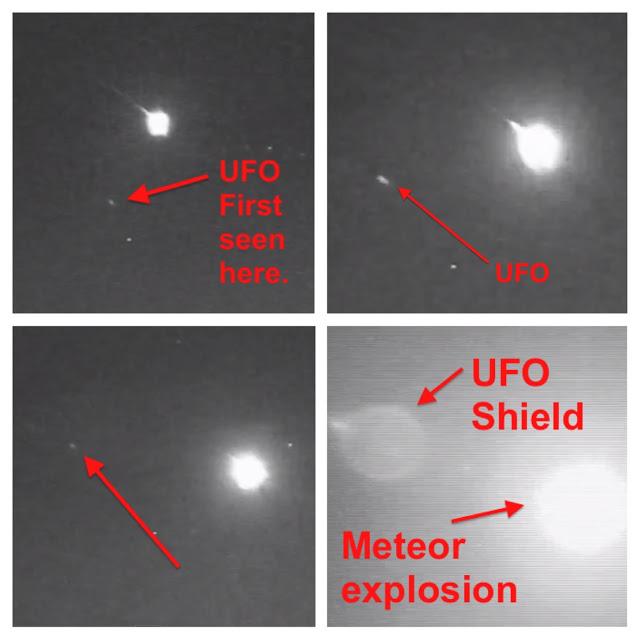 НЛО в Японии взрывает метеорит
