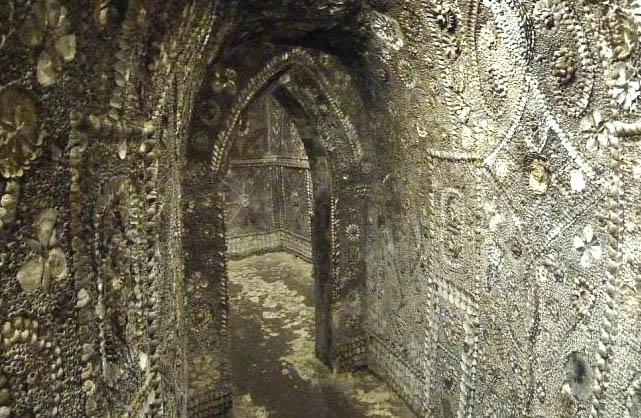 Грот ракушек, Shell Grotto, Англия, строения