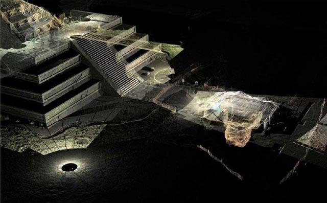 Теотиуакан, Мексика, строения, пирамиды