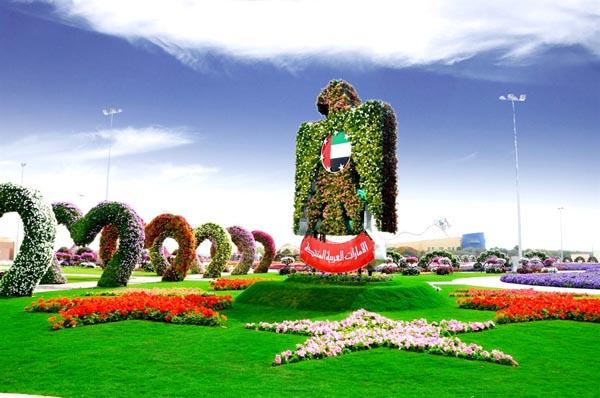 Дубай, самый большой цветочный сад в мире, чудеса
