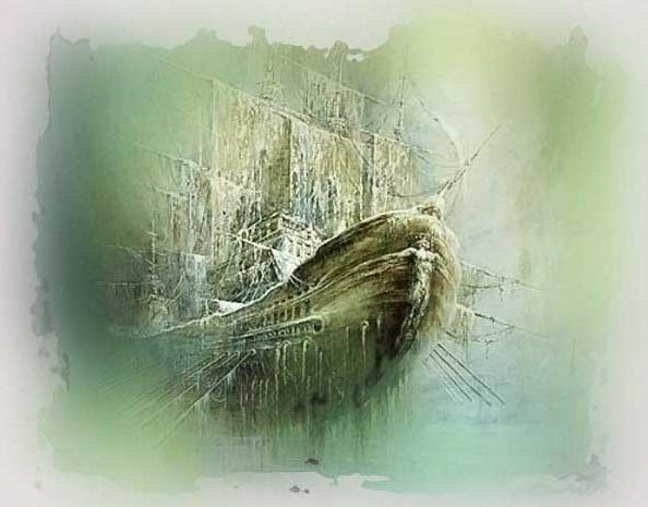 призраки, привидение, корабль призрак, Летучий голландец