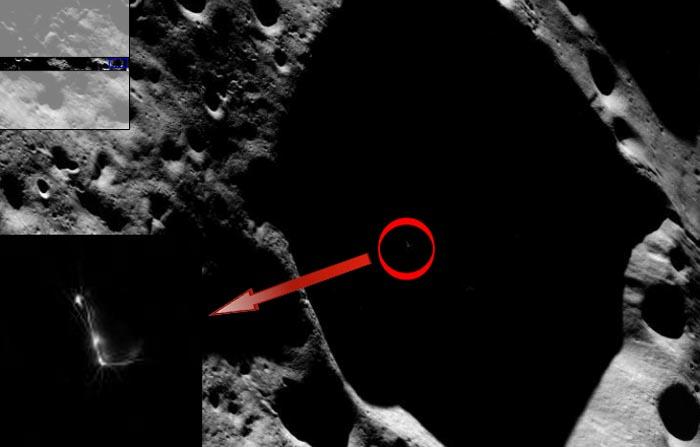 База пришельцев на Луне, НЛО на Луне