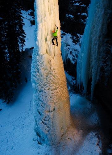 Замерзший водопад, чудеса, водопад Фэнг