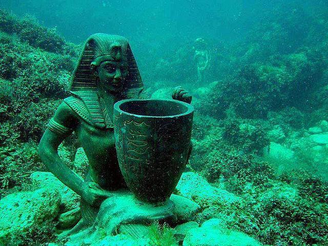 маяк Фарос, подводные города, Египет, подводная Александрия