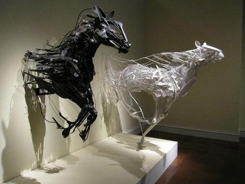 Халил Чишти, Удивительные люди, искусство, скульптуры из полиэтилена