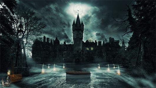 удивительные строения, замок, призраки, привидения