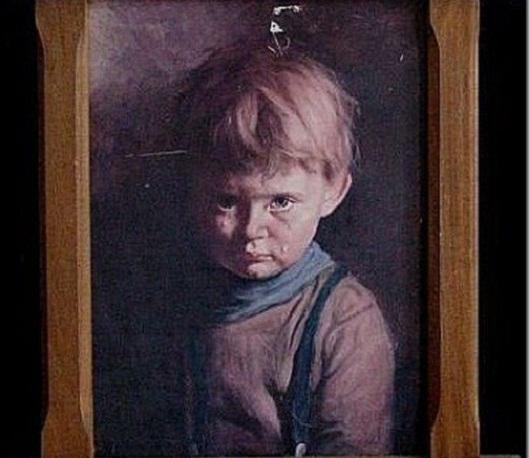 Плачущий мальчик, картина-поджигатель, проклятые картины