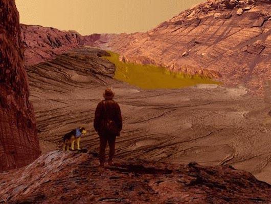 озеро на Марсе, Марс, Curiosity, марсоход