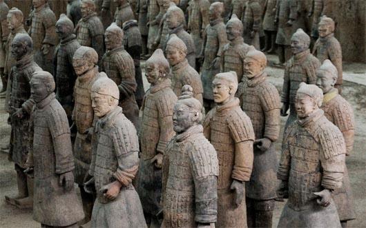 Терракотовая армия, Китай, артефакты