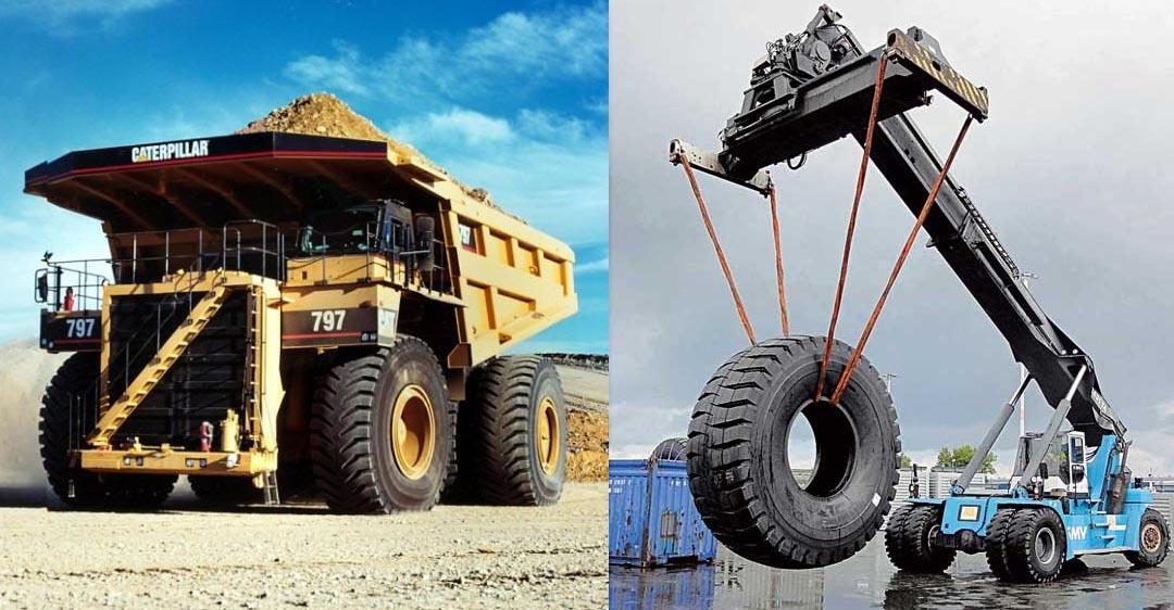 Самые большие шины в мире, Caterpillar 795F, Bridgestone