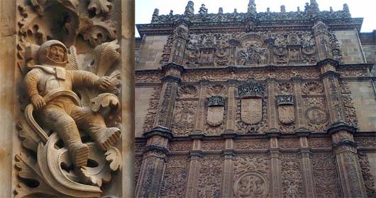 Астронавт в Саламанке, артефакты, Собор в Salamanca, Испания