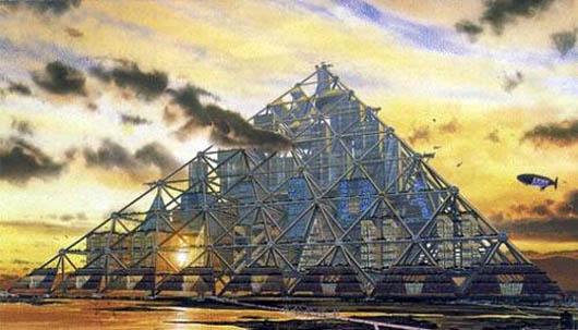 Город–пирамида в Японии, удивительные строения, пирамида, Япония