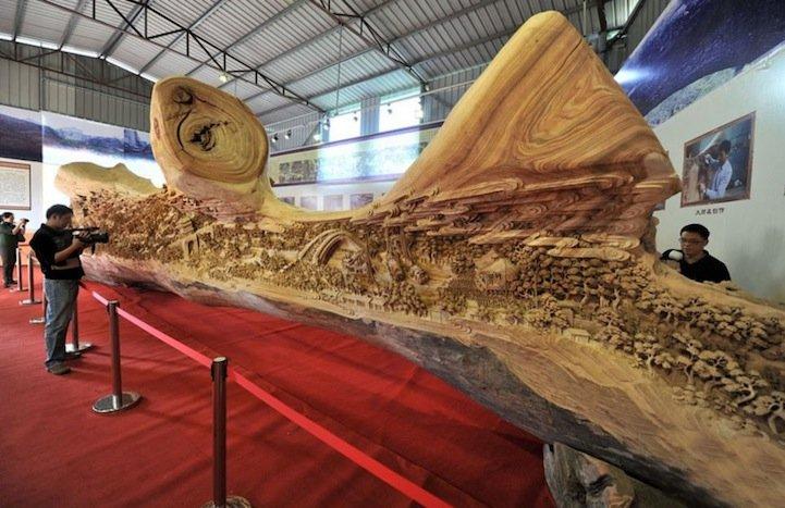 Китай, Книга рекордов Гиннеса, Чжен Чунхуи, скульптура из дерева