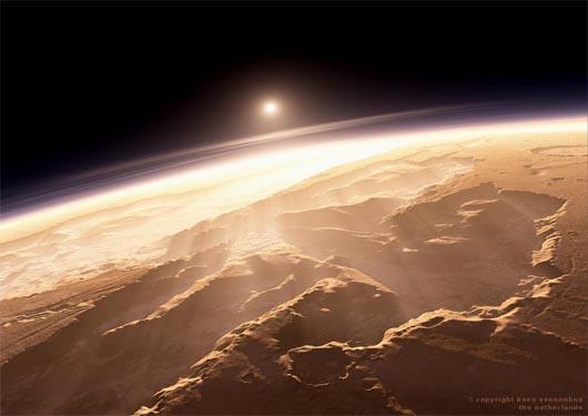 Марс, космос, планеты