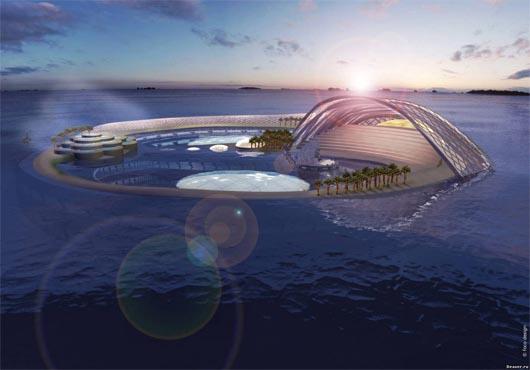 подводный отель, Дубай, ОАЭ, удивительные строения,
