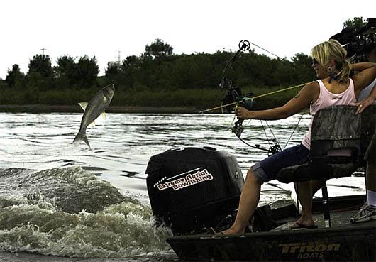 рыбалка, рыбалка с луком