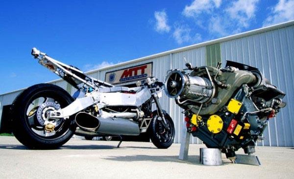 MTT-Y2K, мотоцикл с двигателем от вертолета
