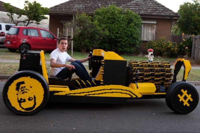 автомобиль из лего, лего-автомобиль, Рауль Оайда