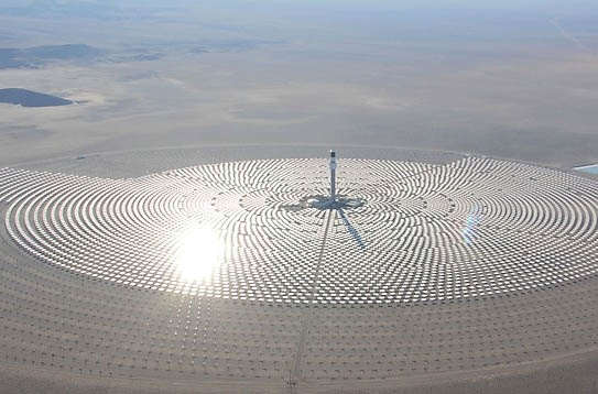 crescent dunes dolar energy project, альтернативные источники энергии, солнечная башня,