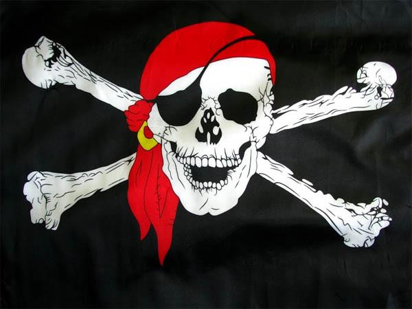 пираты, пиратский флаг