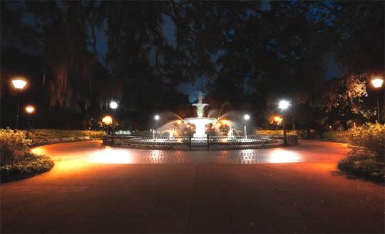 уличное освещение, nochnoj-park