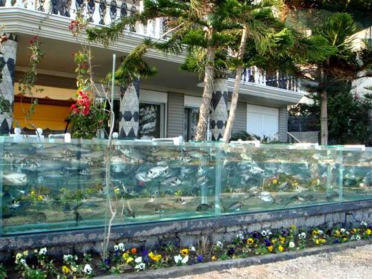 мехмет али гюксеоглу, удивительные строения, забор аквариум