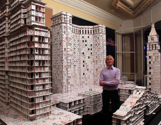 брайан берг, Книга рекордов Гиннеса, карточные скульптуры