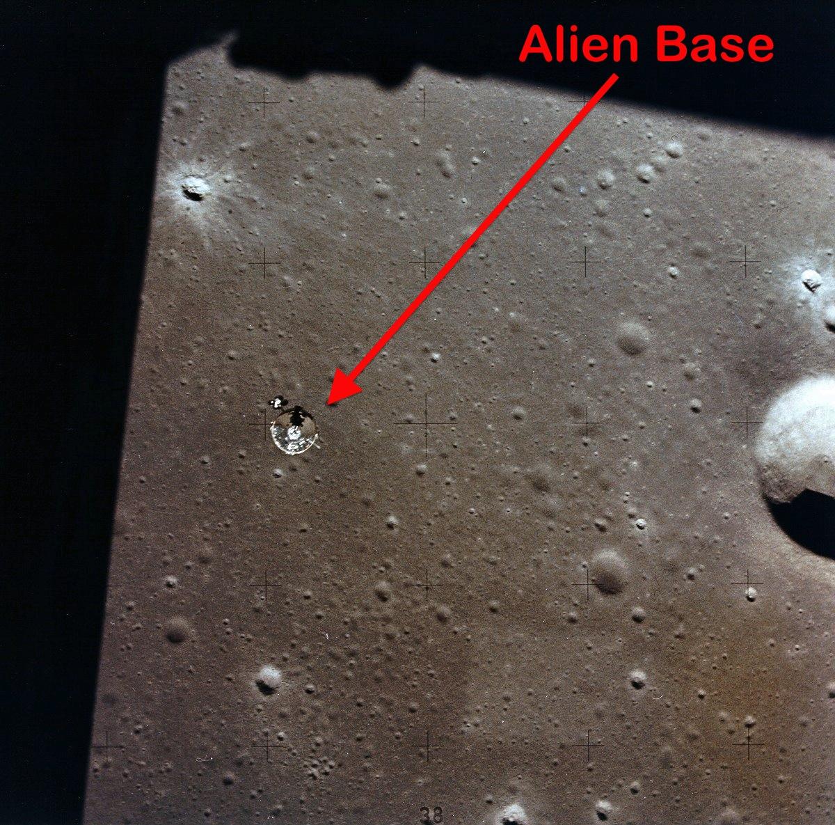 База пришельцев на Луне в высоком разрешении